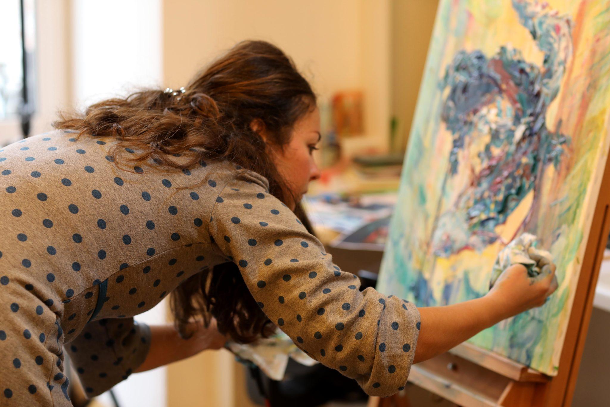 Карина в стилі імпресіонізм - фото