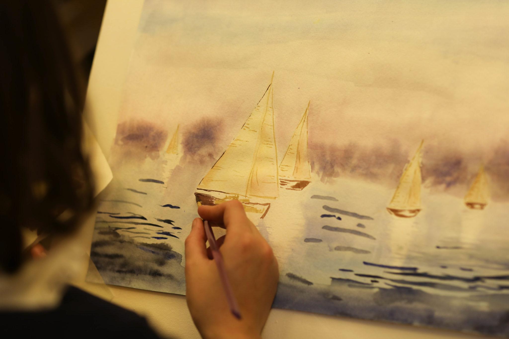 Курс «Акварельная живопись» 2 занятие - фото