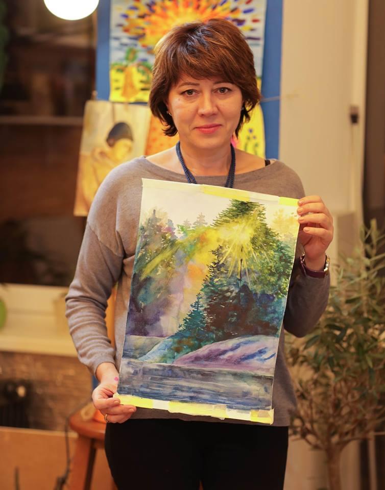 Курс «Акварельная живопись» 4 занятие - фото