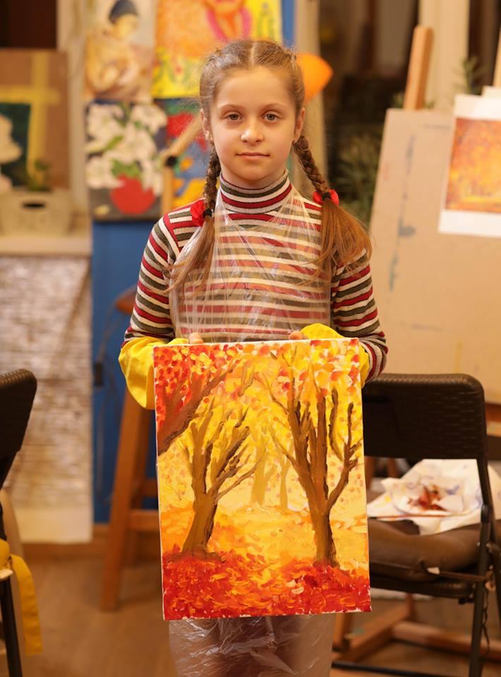 """Олійний майстер-клас """"Осінній натюрморт"""" для діток - фото"""