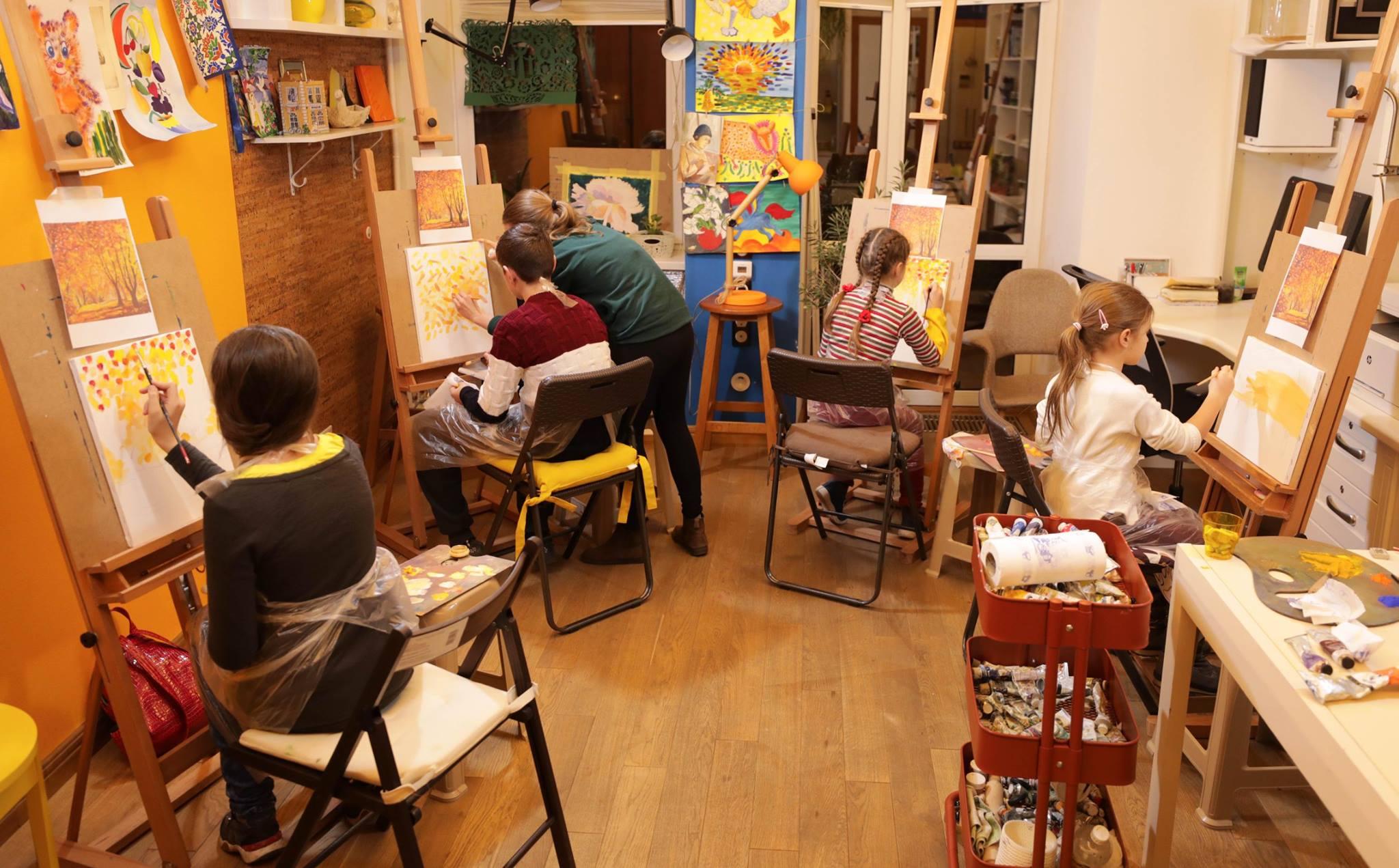 Мастер-класс по маслу для деток «Осенний натюрморт» - фото