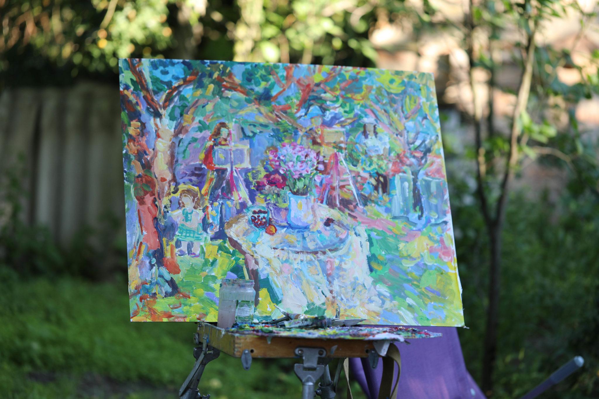 Выездной масляный мастер-класс «На даче у художницы» - фото