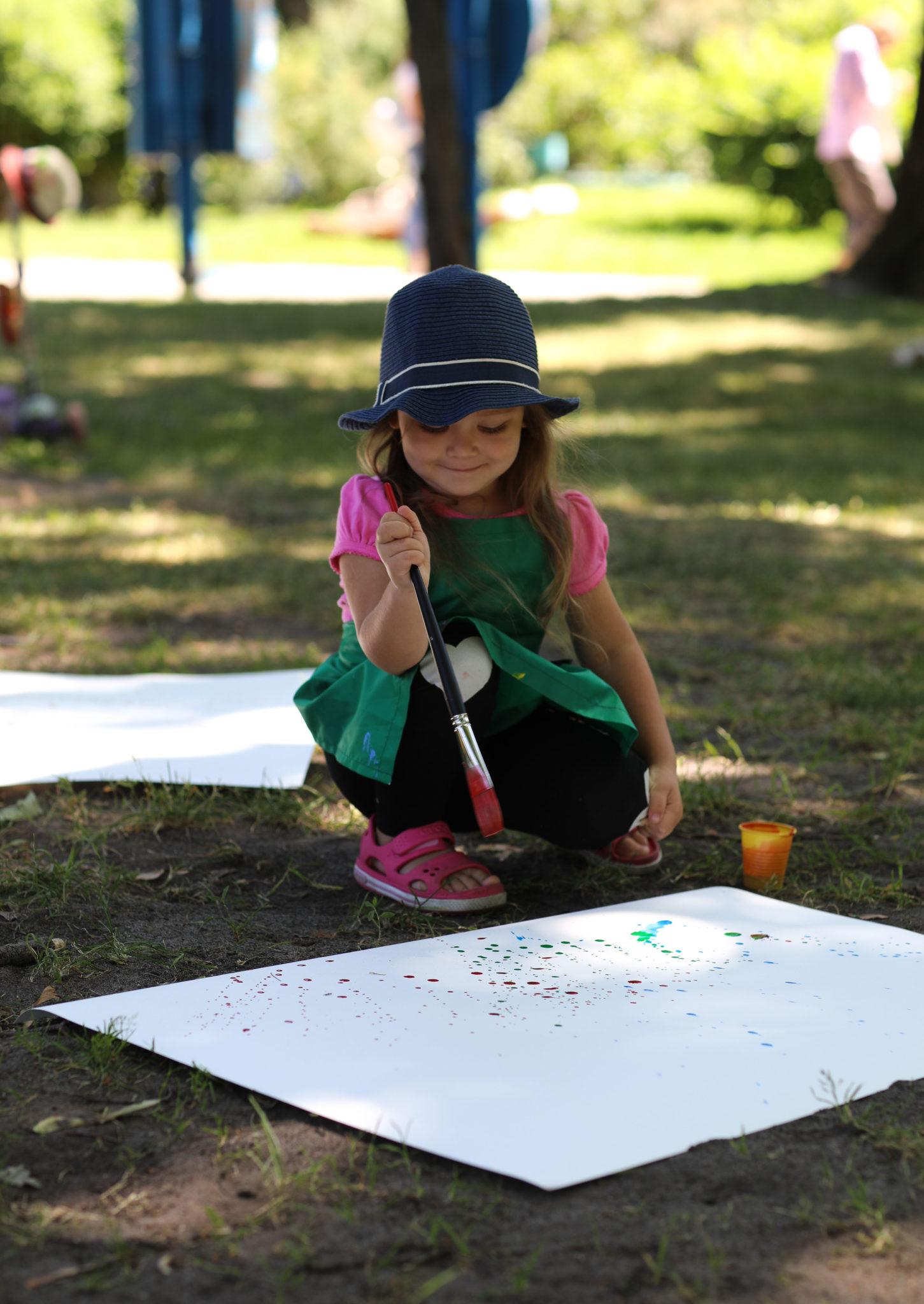 Арт-занятия в парке - фото