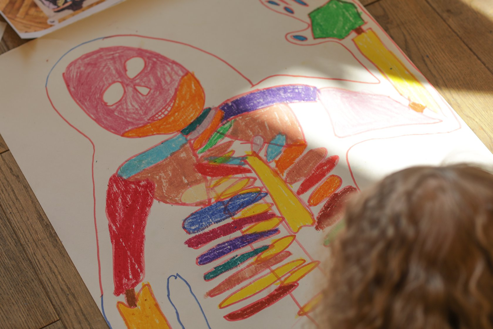 Занятия рисование на английском языке «Скелет» - фото
