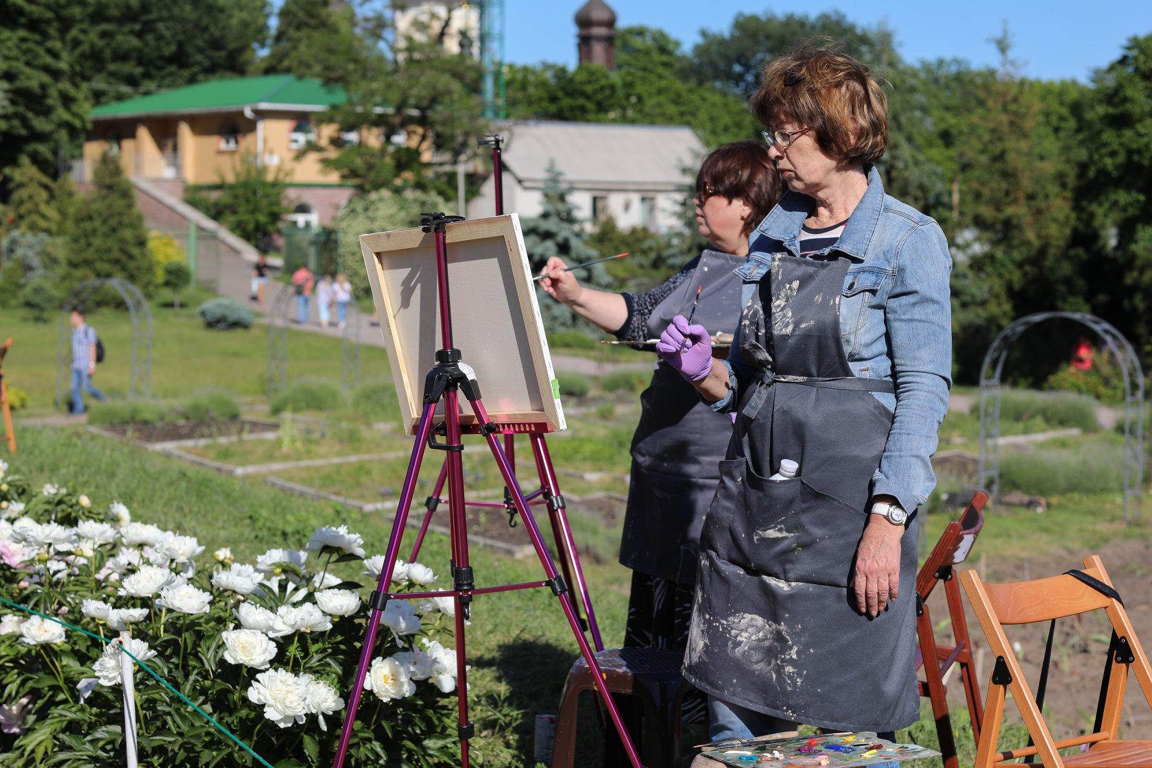 """Олійний майстер-клас """"Піони"""" в Ботанічному саду - фото"""