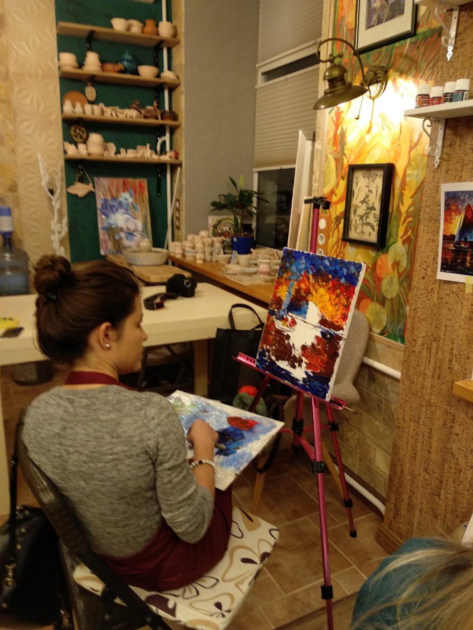 """Благодійний майстер-клас з олійного живопису """"Картина мрії"""" 25 листопада - фото"""
