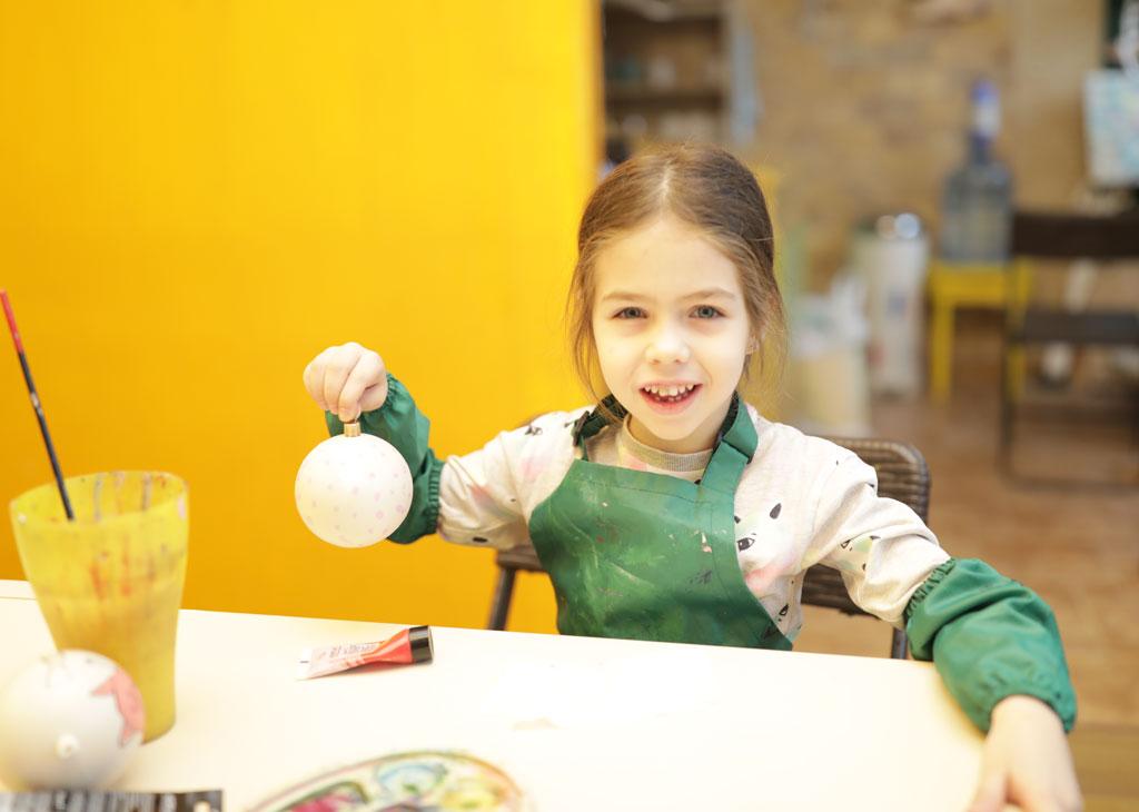 Мастер-класс по росписи елочных игрушек 23 декабря - фото