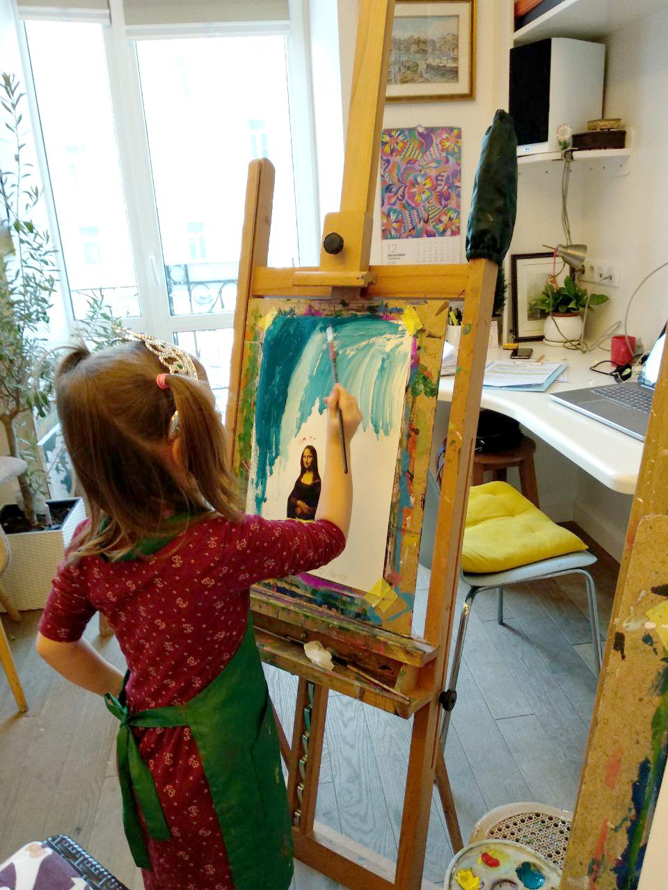 Арт-занятие «Творчество Леонардо да Винчи» - фото