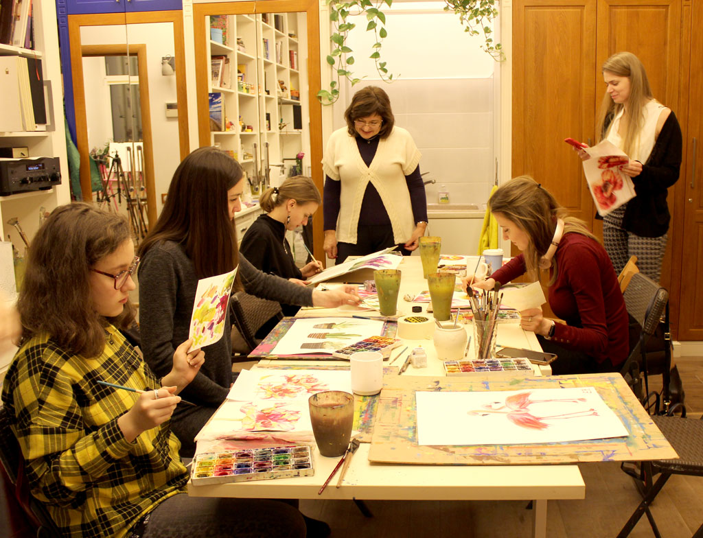Акварельная живопись каждую среду в 19:00 - фото
