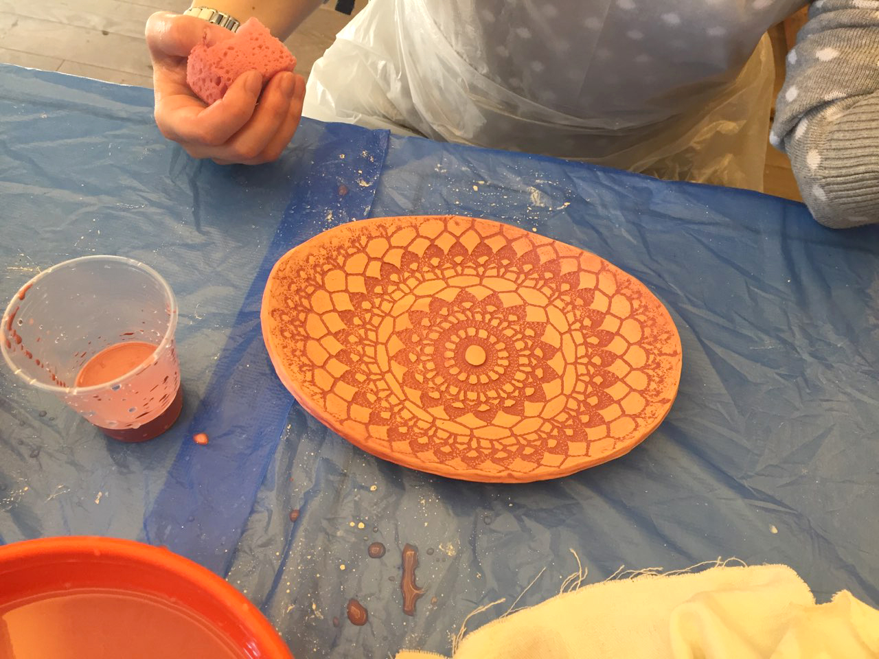 """Мастер-класс по керамике """"Праздничная посуда"""" 2 часть 31марта - фото"""