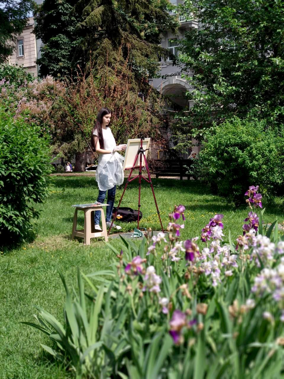 Масляный выездной мастер-класс «Цветы в саду» 26 мая - фото