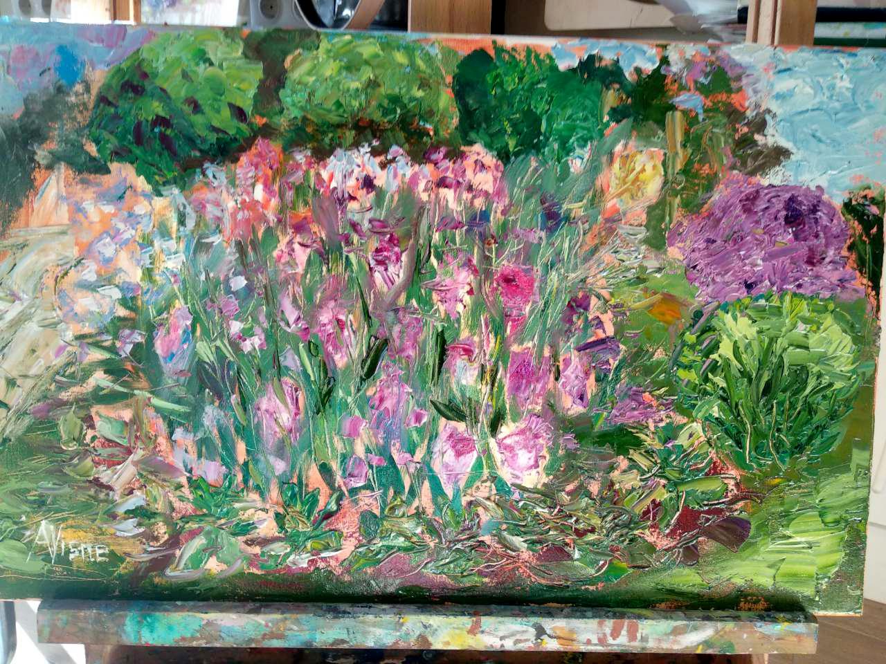 """Олійний виїзний майстер-клас """"Квіти у саду"""" 26травня - фото"""